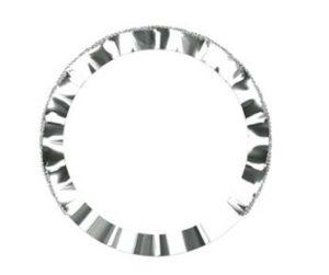 eclipse shape half diamond bead set wedding ring 3
